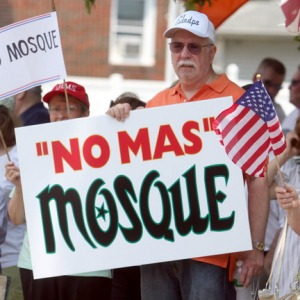 """No Mas"" Mosque Sign"